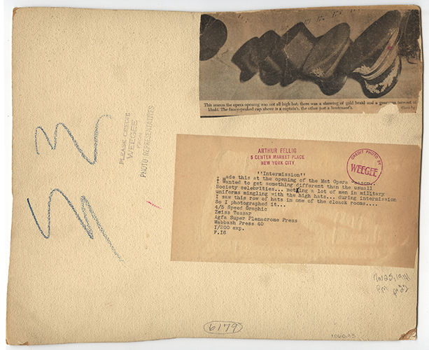 Weegee, Intermission. November 25, 1941