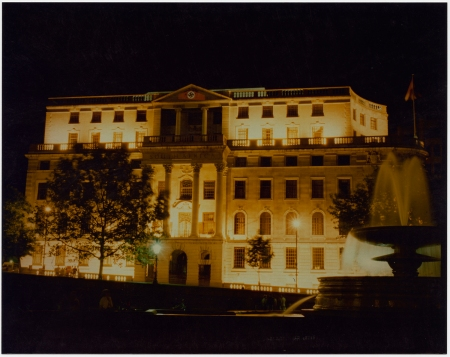 Krzysztof Wodiczko, (Projection on South Africa House, Trafalgar Square, London), 1985