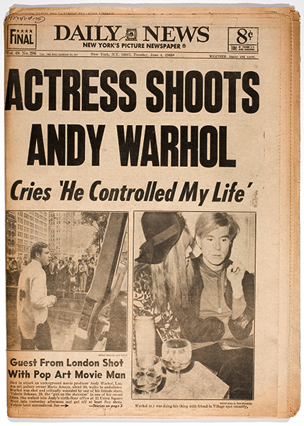 Actress Shoots Andy Warhol Cries He Controlled My Life