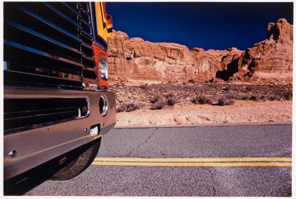 Pete Turner, American, b. 1934 Truck Stop, Utah, 1974 Dye transfer print Gift of Pete Turner, 1987