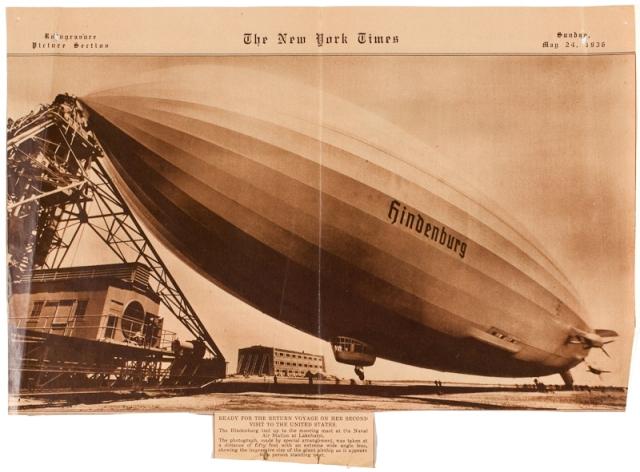 The New York Times; newspaper; Hindenburg; blimp