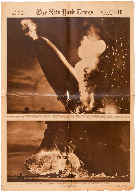 The New York Times; newspaper; Hindenburg; blimp