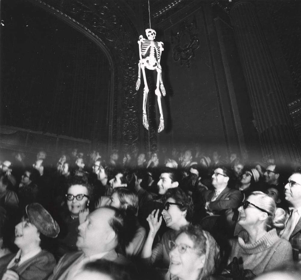 Wonderful Weegee (1899 1968), [Audience Watching U201cHouse On Haunted Hillu201d], 1959  (7471.1993)